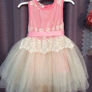 Pink Fairy Tulle Style Toddler Girl Dress 2t